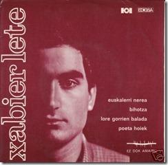 Euskalerri nerea. Xabier Lete, single de 1968