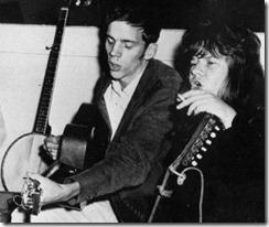 Jorma y Janis grabando las canciones en casa de éste