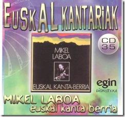 Mikel Laboa Euskal kanta berria front