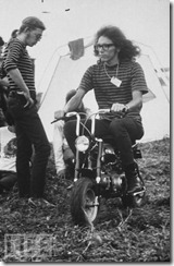 Jorma (en moto) y Jack en Woodstock