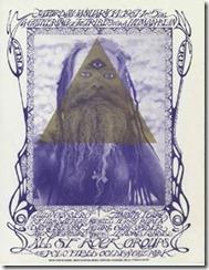 """""""Poster anunciando el 'Human Be-In' diseñado por Michael Bowen usando la foto del artista Casey Sonnabend"""""""