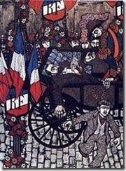 L'attentatio di Lione. Illustrazione di Costantini.