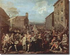 La Marcha de los Guardias a Finchely (William Hogarth, 1749-1750)