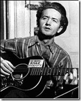 Folksinger Woody Guthrie