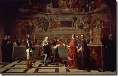 Galileo ante el Santo Oficio, Joseph-Nicolas Robert-Fleury (s. XIX)