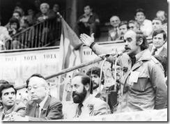 José Antonio Labordeta, Emilio Gastón y Enrique Tierno Galván