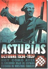 A poster of 1937, remember the '14 Asturian revolution