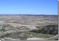Los Monegros' landscape: Leciñena