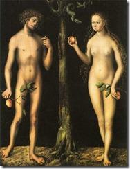"""""""Adán y Eva"""", Lucas Cranach"""