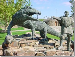lagarto Calzadilla de Coria: según la leyenda, éste lagarto gigante que amenazaba al ganado fue muerto por un humilde pastor