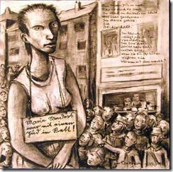 """""""Marie Sanders"""", ilustración de Bert Tombrock, inspirada por el poema de Brecht"""