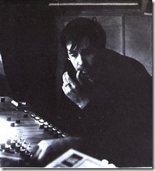 "Paco Ibáñez during ""Quejido""'s recording. Photo by Hans Geene"