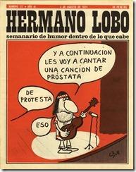 """Portada de """"Hermano Lobo"""", agosto de 1974, por Miguel Gila"""