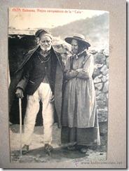 Postal antigua (Ff. s. XIX-Pp. s. XX): Campesinos ancianos de La Cala, Ibiza