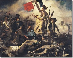 """""""La Libertad guiando al pueblo"""", Delacroix"""