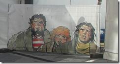Cap. Trueno, Crispín y Goliath modernizados; obra de Zósimo