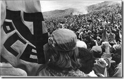 Mitin del PCE en Torrelodones (Madrid), el domingo 12 de junio de 1977. Faltaban tres días para los primeros comicios legislativos de la democracia y el partido logró reunir a 300.000 personas.