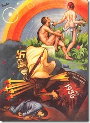 Una alegoría algo bíbilica por Manuel Monleon, cartelista valenciano