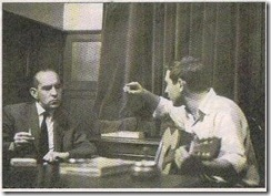 Raimon with Salvador Espriu