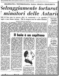 """El diario italiano """"L'unitá"""" se hace eco de la cruda represión de la huelga minera"""
