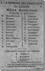 Mémorial_de_l'affiche_rouge; abajo se leen las palabras de Manouchian