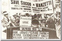 Protestas en Londres para la liberación de Nicola Sacco y Bartolomeo Vanzetti (1921)