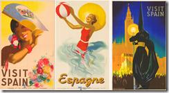 Carteles turísticos de los años 40