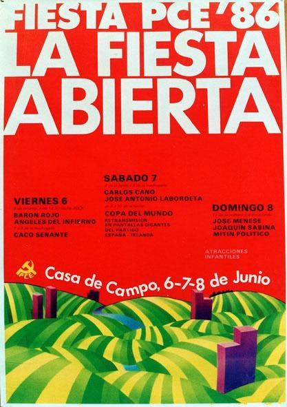 Elogio del Giliprogre Fiestapce_cartel1986