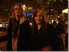Patti Smith, encontrada en la marcha del 14N en Madrid