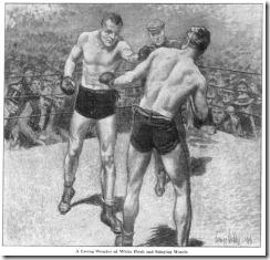 Ilustración de George Gibbs para el relato de Jack London