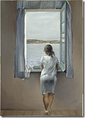 """Salvador Dalí: """"Figura en una finestra (Figura en una ventana)"""", 1925"""