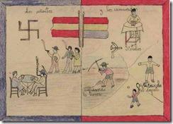 Cuaderno escolar de los días de la guerra civil