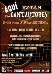 Cartel del recital, de Marcos Paniagua