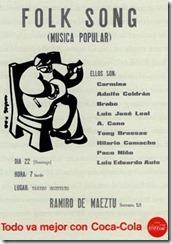 Cartel del primer recital de Canción del Pueblo